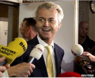 Geert Wilders leaves court in Amsterdam, 23 June