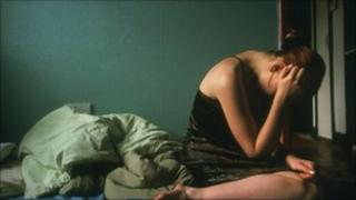 Depressed young girl