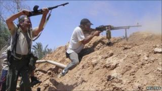 Libyan rebels. File photo
