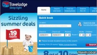Travelodge website
