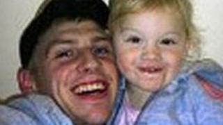 Adam Chadwick and daughter