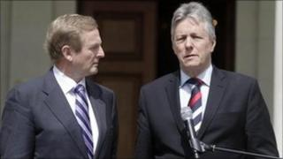 Irish Prime Minister Enda Kenny and Northern Ireland First Minister Peter Robinson