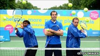 Olympic heptathlete Denise Lewis, former British number one tennis player Greg Rusedski and television presenter Tim Lovejoy launched the LTA's All Play