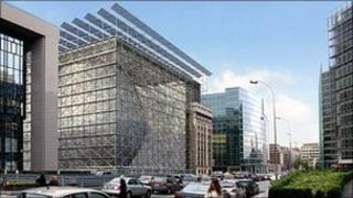 Artist's impression of the Europa building