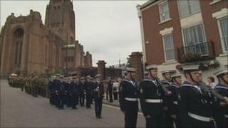 Parade in Liverpool for Armed Forces Day