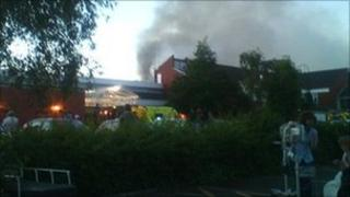 Fire at Chesterfield Royal Hospital