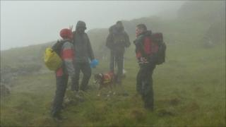 Walkers rescued on Snowdon