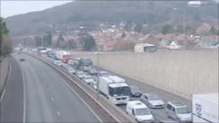 A55 traffic delays