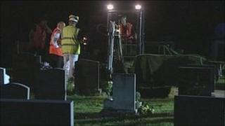 The exhumation is carried out