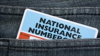 National Insurance numbercard