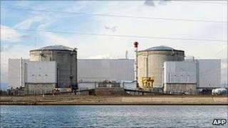 Fessenheim nuclear plant, France, 14 Mar 2011