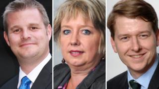 Stuart Andrew, Karen Lumley and Robin Walker