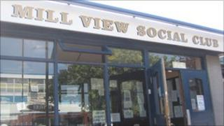 Mill View Social Club entrance