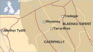 Rhymney map