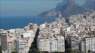 Rio de Janeiro cityscape of buildings