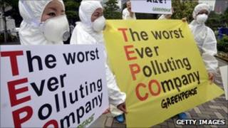 Angry protesters at Tepco meeting