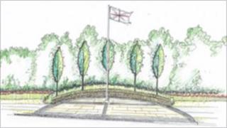 Proposed memorial garden