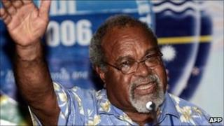 Papua New Guinean Prime Minister Michael Somare 25 October 2006