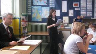 A MiniTrial taking place in a Scottish school