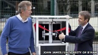 Professor John Thornes (L) and John Hammond