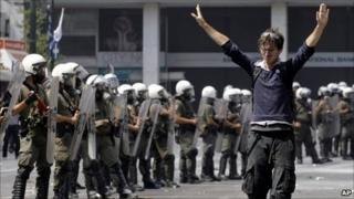 Protests in Athens, 28 June