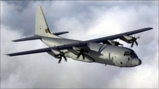 Royal Air Force Hercules C130 of 24 sqn was based at RAF Lyneham in Wiltshire
