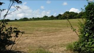 The proposed field in St Erth, near Penzance