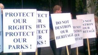 City Garden protest