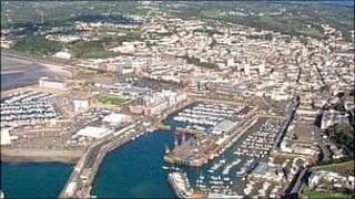 Aerial view of Jersey