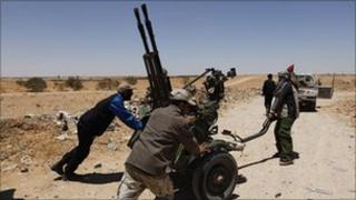 Libyan rebels near Zintan, 28 June 2011