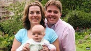 Neil Entwistle, his wife Rachel and daughter Lillian Rose
