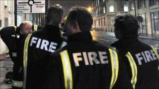 London firefighters