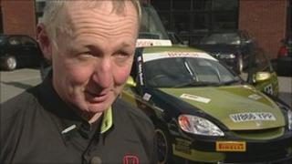 Paul Andrews and Oaktec hybrid rally car