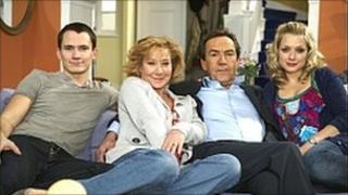 Scene from BBC sitcom 'My Family'