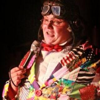 Dion Griffiths performing as Roy 'Chubby' Brown