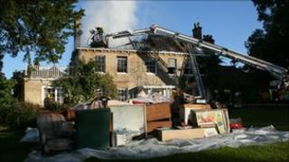Fire at house in Tinkers Cross, Fordingbridge