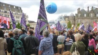 Rally in Victoria Square