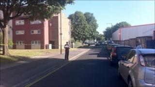 Police cordon in Walker Close