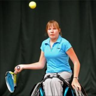 Wheelchair tennis player Chloe Ball-Hopkins