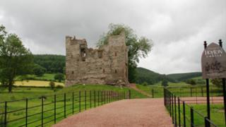 Hopton Castle: picture by Peter Ralley