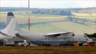 C130 Hercules at Inverness Airport