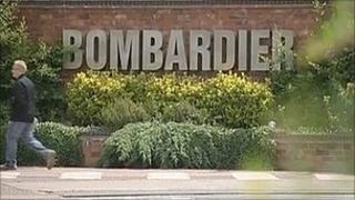 Bombardier sign at factory