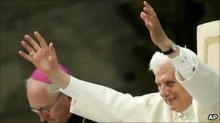 Pope Benedict XVI (right). Photo: 2 July 2011