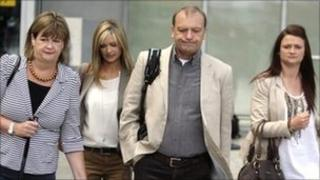 The Hawker family at Heathrow Airport