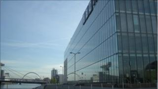 BBC Scotland building at Pacific Quay