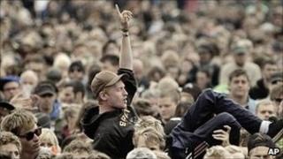Revellers at Roskilde