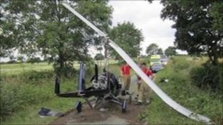 Gyrocopter crash