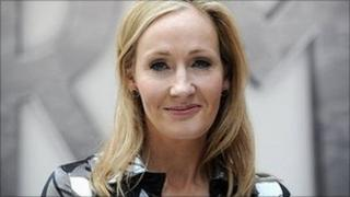 JK Rowling at the launch of Pottermore