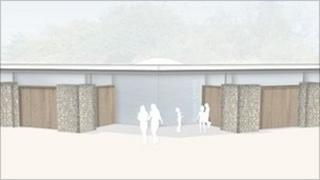 Artist's impression of the new visitor centre