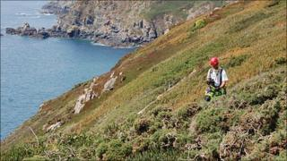 Guernsey Ambulance and Rescue cliff team at Les Tielles